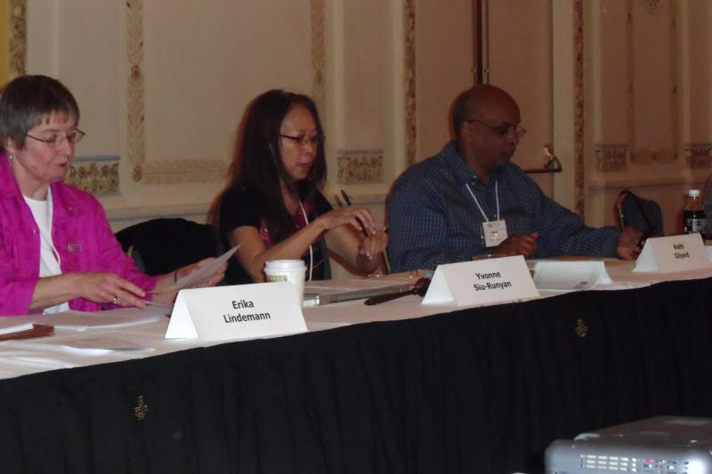 Yvonne Siu-Runyan, President and Keith Gilyard, President-Elect of NCTE